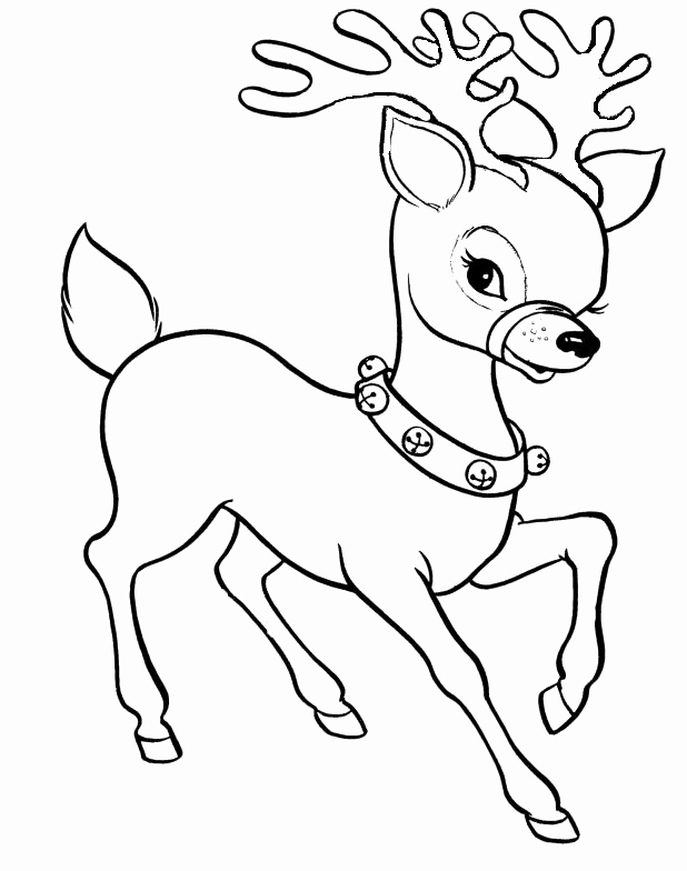 618x784 Coloring Pages Christmas Reindeer Coloring Pages