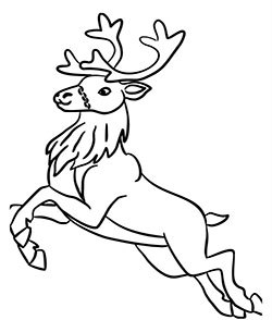 250x294 Free Pdf Christmas Reindeer Coloring Pages