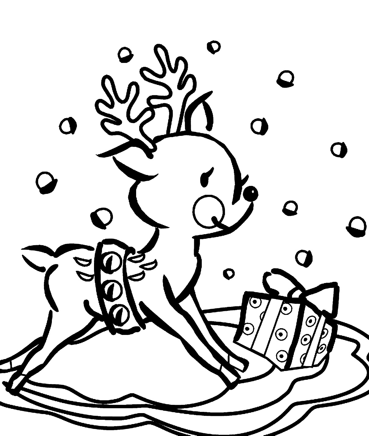 1209x1428 Reindeer Coloring Pages