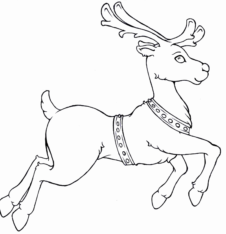 781x807 Caribou Reindeer Coloring Merry Christmas Happy New Year Arts