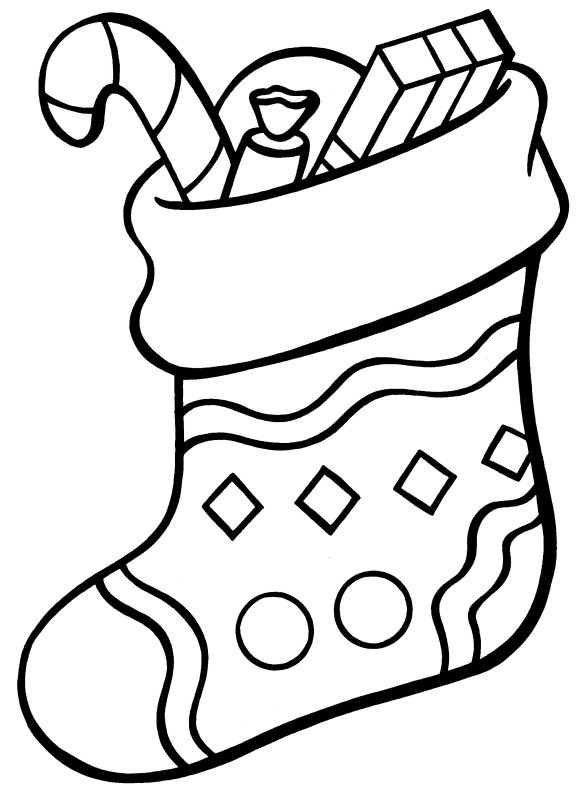 579x800 Christmas Stocking Coloring Page