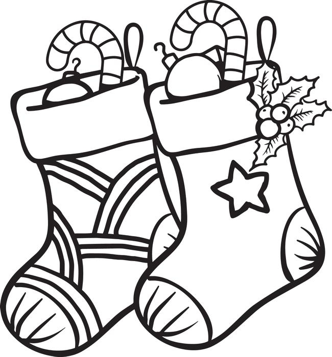 650x700 Christmas Stocking Coloring Pages