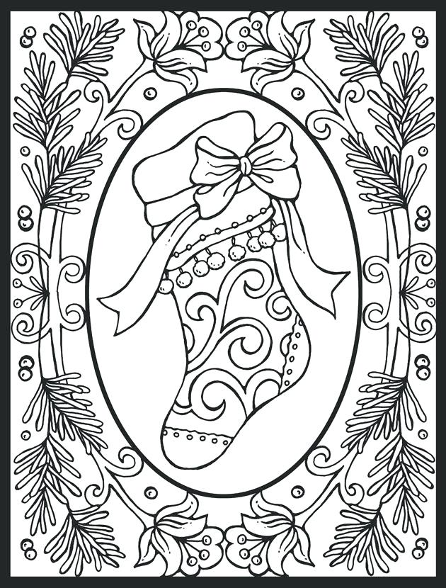 630x830 Christmas Stocking Coloring Pages Pattern Stocking Coloring Pages