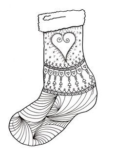 236x314 Christmas Stockings Coloring Pages Coloring