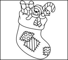 236x208 Christmas Stocking Christmas Coloring Pages