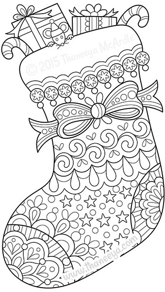 340x600 Color Christmas Coloring Book