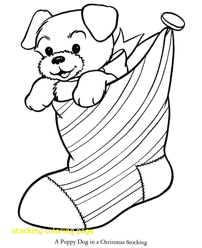 670x820 Stocking Coloring Page With Christmas Stocking Coloring Pages