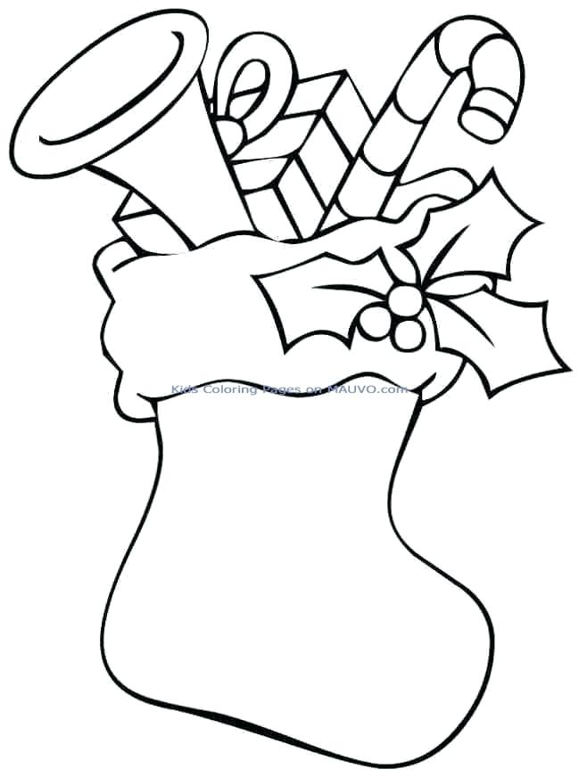 649x872 Stocking Coloring Pages Stocking Coloring Pages Christmas Stocking