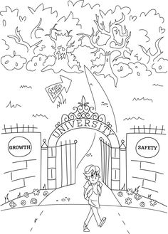 236x329 Gotta Focus! College In Color Coloring Page For Stressed Students