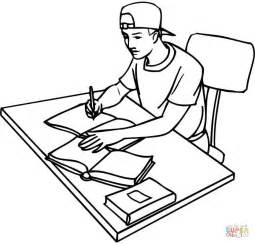 255x244 College Boy Caricature Coloring Page Free Printable Coloring Pages