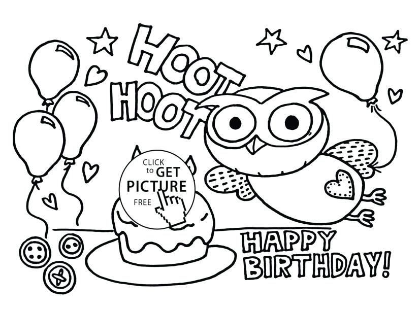827x609 Birthday Color Pages Birthday Coloring Page Happy Birthday