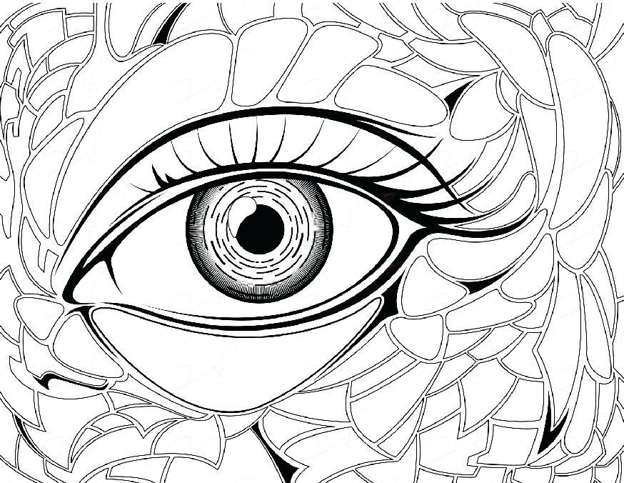 874x676 Eye Coloring Page Eye Brawl Colouring Pages