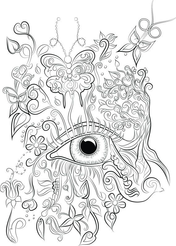570x795 Colouring Pages Digital Download Pdf Print Color Adult