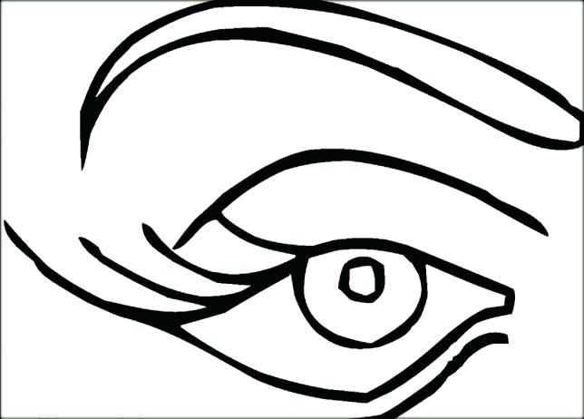 644x462 Astounding Eyes Coloring Pages Eye Coloring Page Care Pages World