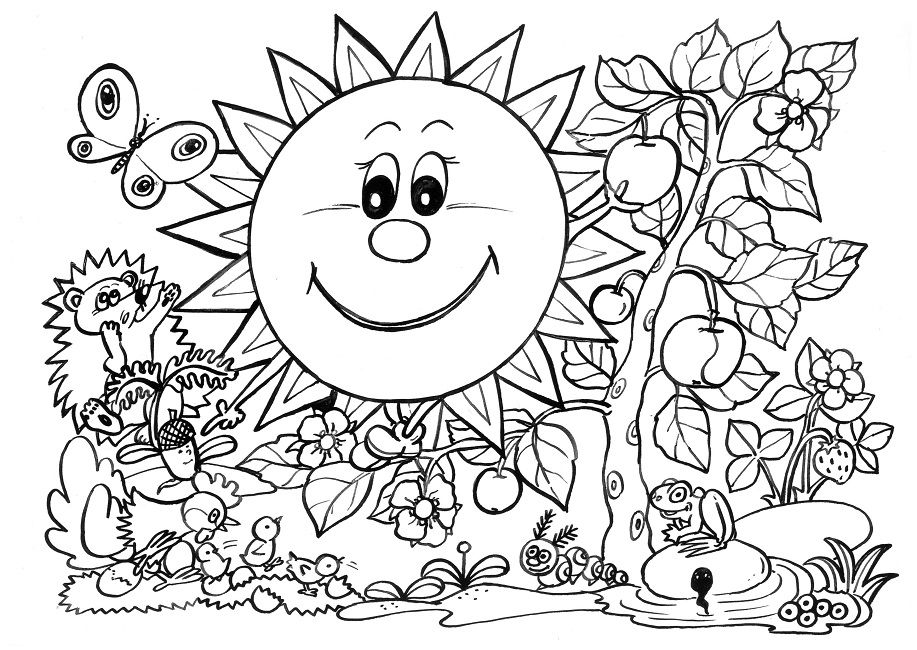 917x650 Spring Coloring Pages For Graders Flowers
