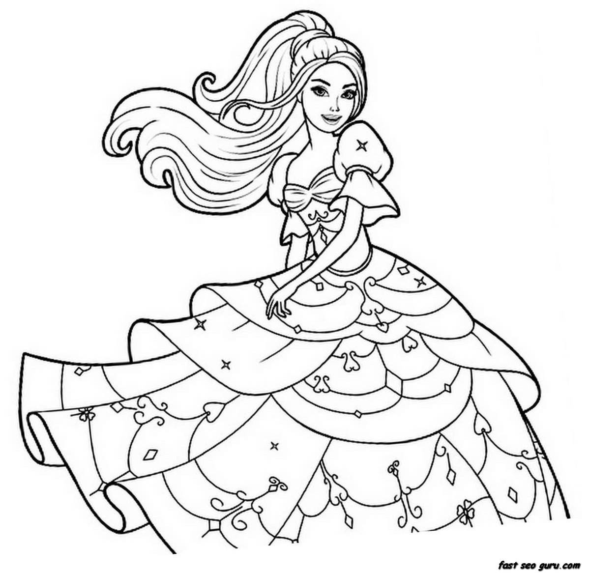 1198x1166 Cute Girl Coloring Pages To Download And Print For Free