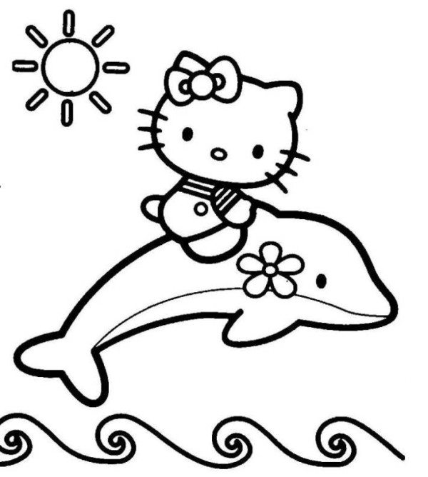 600x668 Hello Kitty Valentine Coloring Page