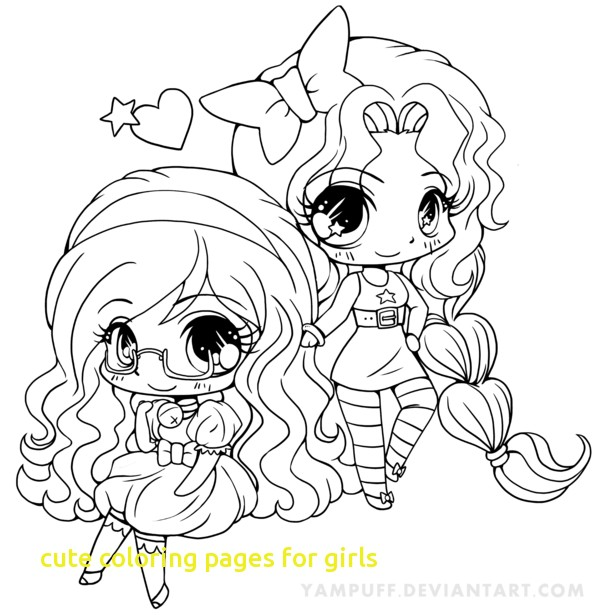 600x615 Cute Coloring Pages For Girls With Chibi Coloring Pages Princess
