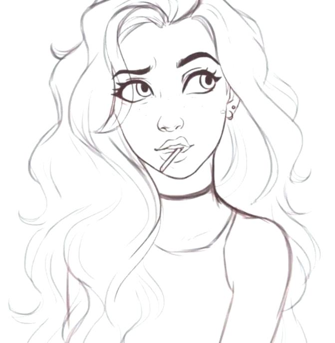 671x687 Cute Girl Coloring Pages Coloring Pages Girl Cute Coloring Pages