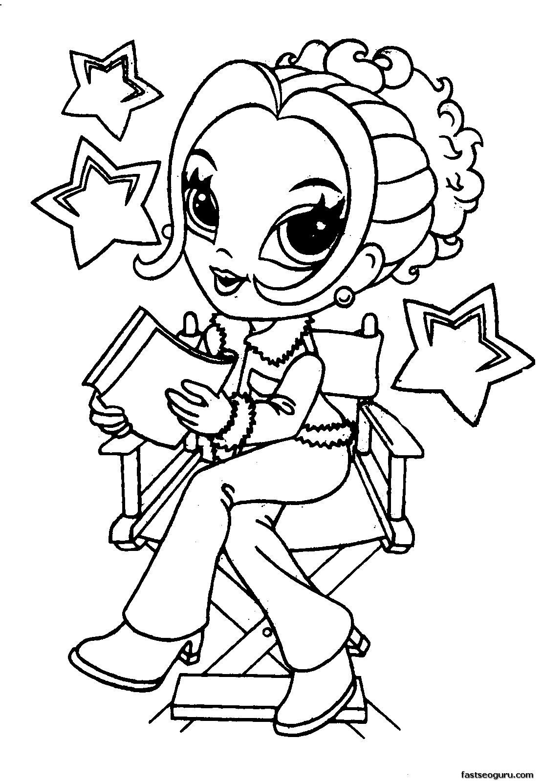 1111x1599 Cute Girl Coloring Pages Print Download