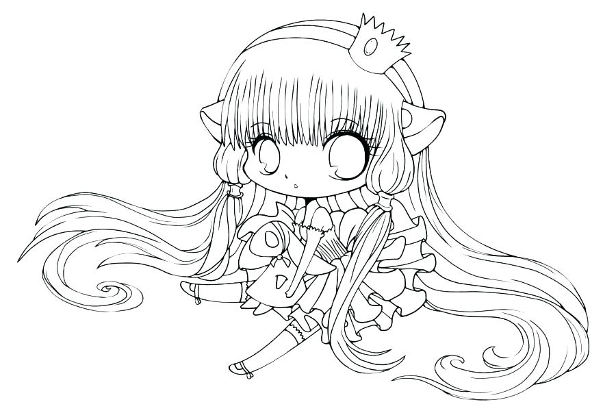 900x603 Anime Fox Girl Coloring Pages