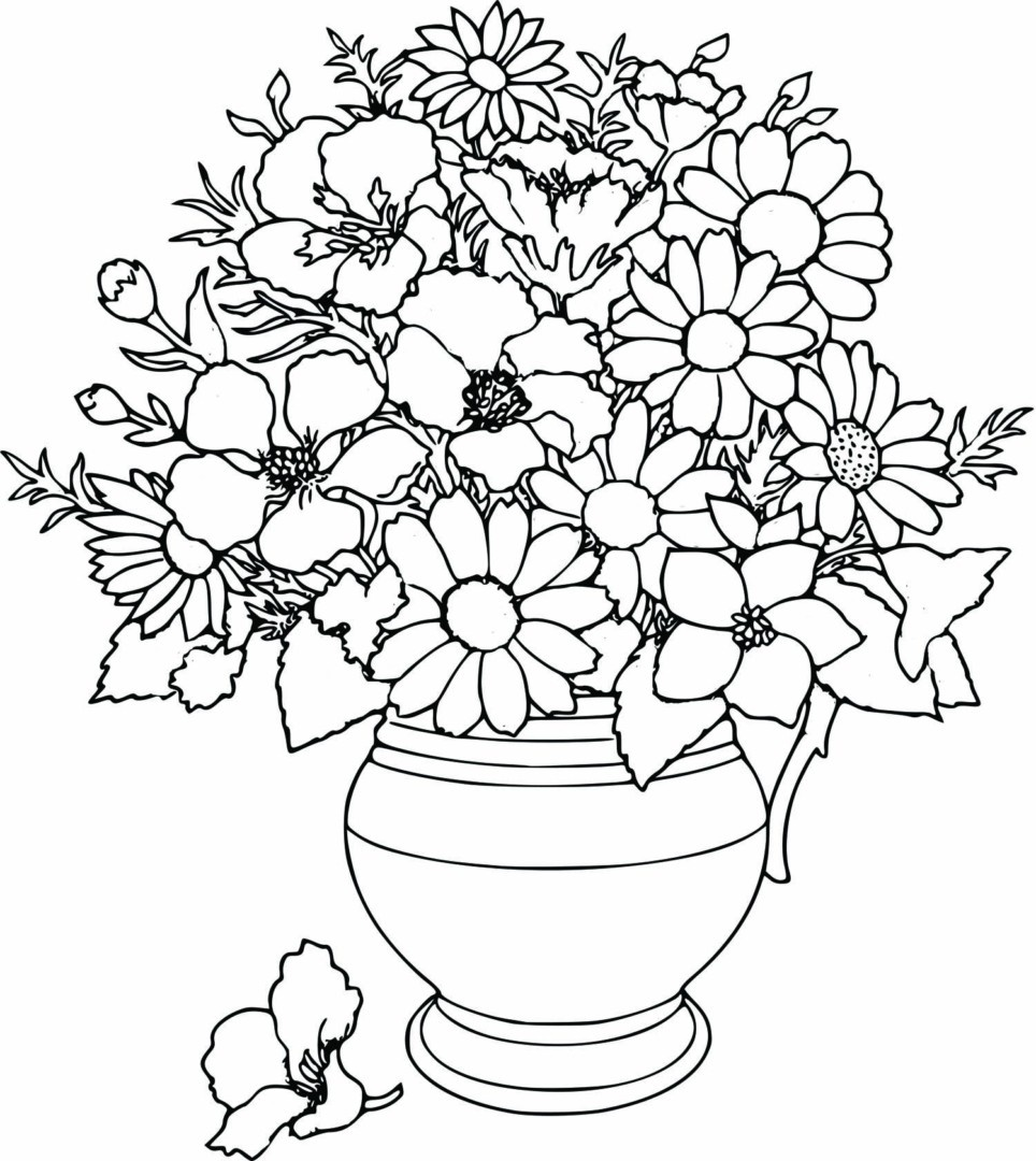 Coloring Pages For Girls Flowers At Getdrawings Free Download