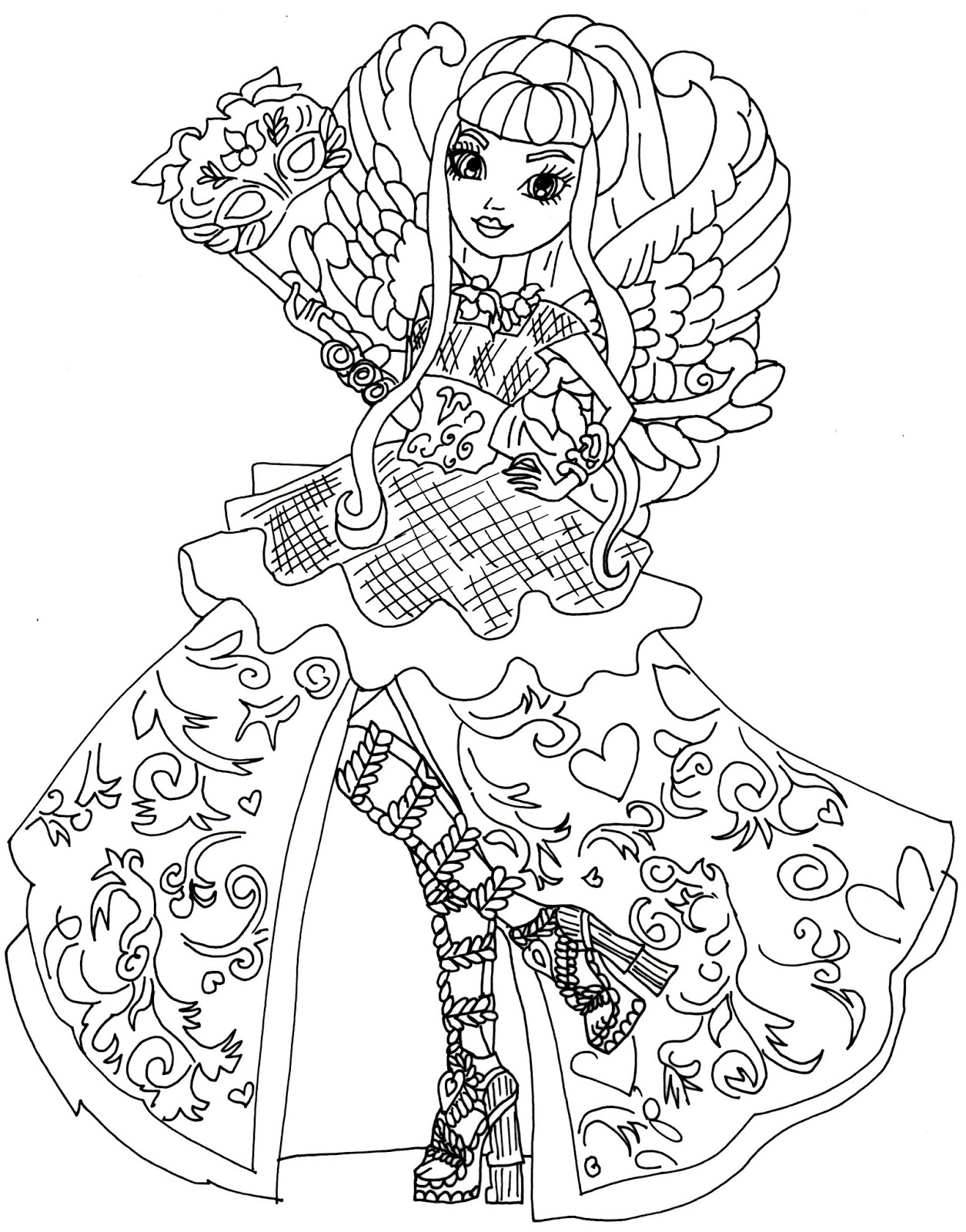1255x1600 Neoteric Ideas Ever After High Coloring Pages Printable Games