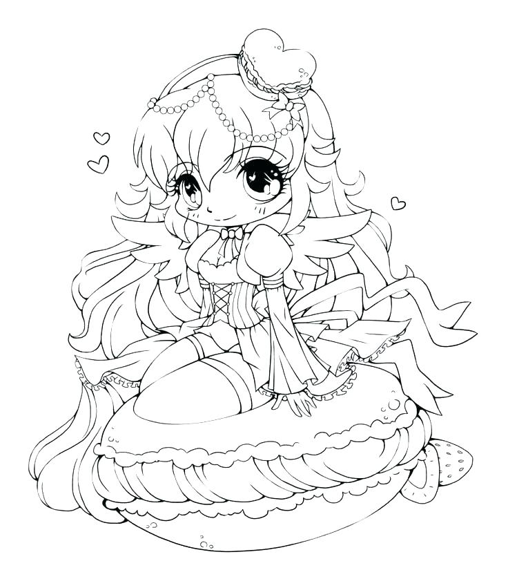 736x838 Anime Coloring Pages For Girls Professional
