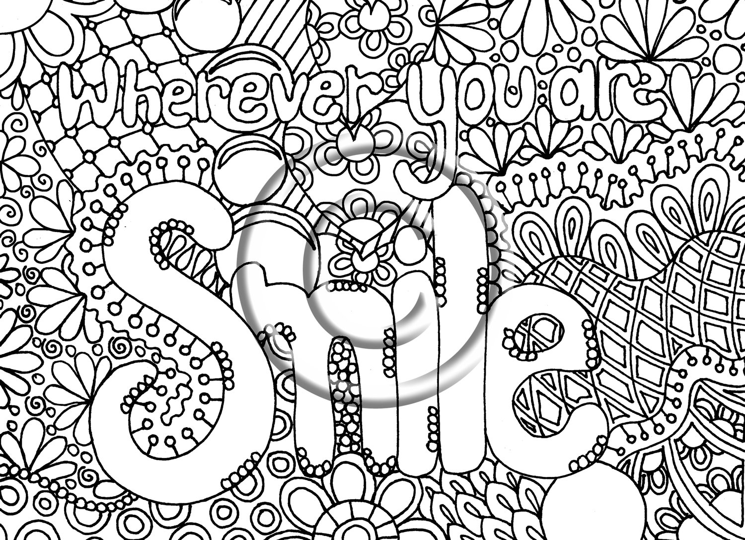 1500x1087 Hard Coloring Pages Abstract