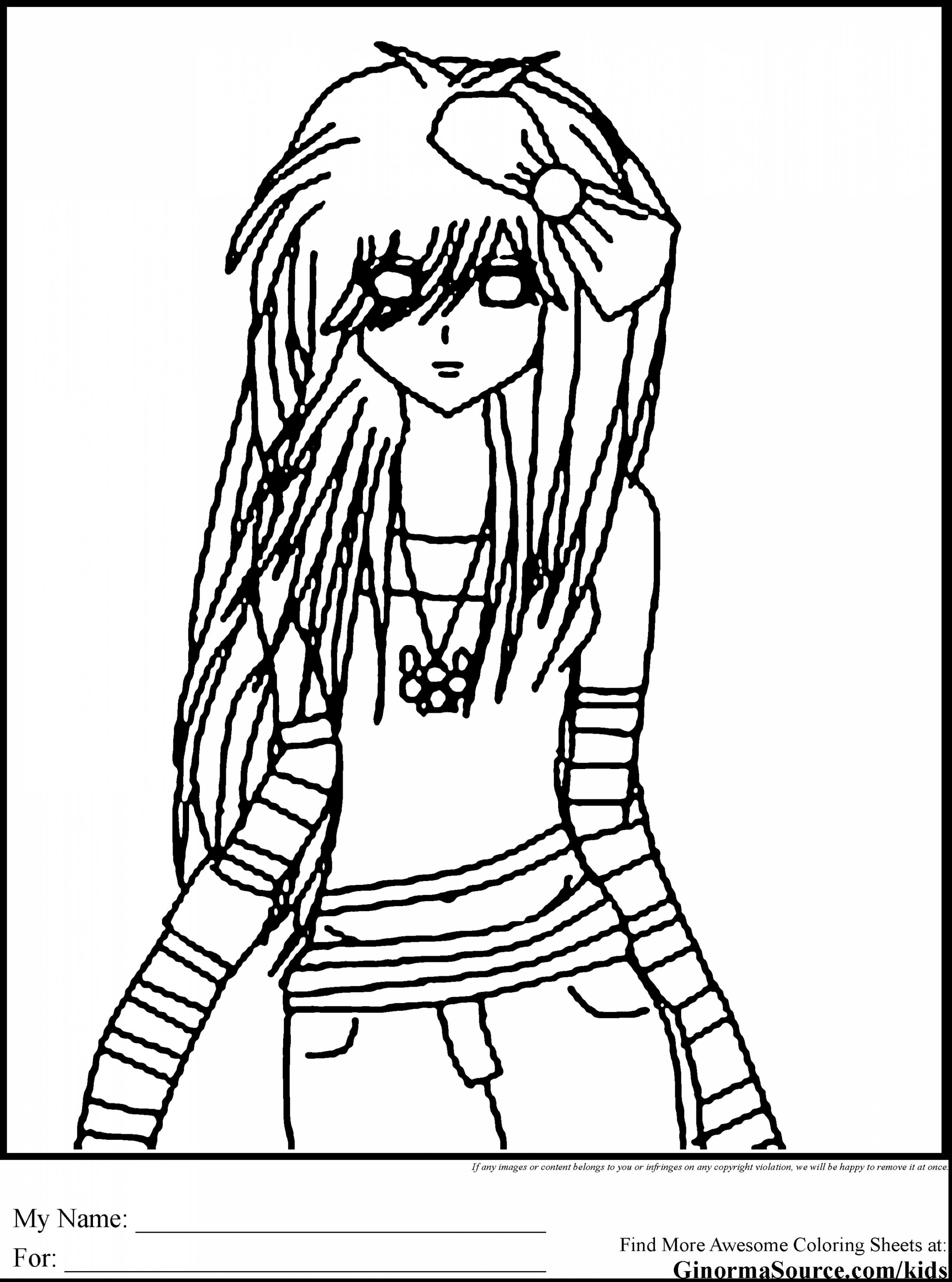 2704x3641 Hard Girl Coloring Pages