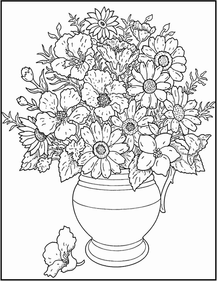 850x1100 Http Colorings Co Hard Flower Coloring Pages For Girls And Up