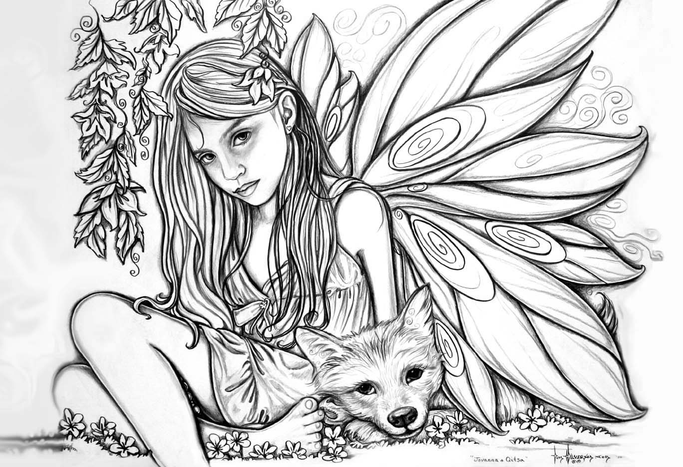 1368x936 New Hard Fairy Coloring Pages For Adults Design Free Coloring Pages