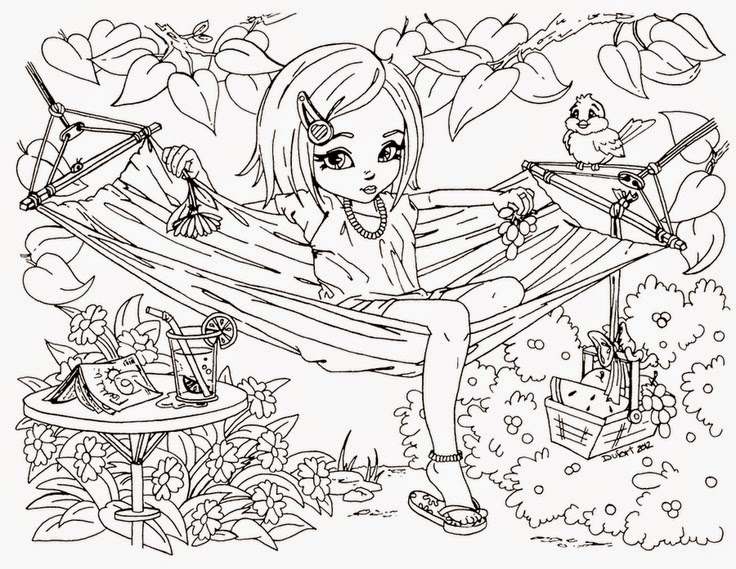 736x569 Difficult Fun Coloring Pages Anti