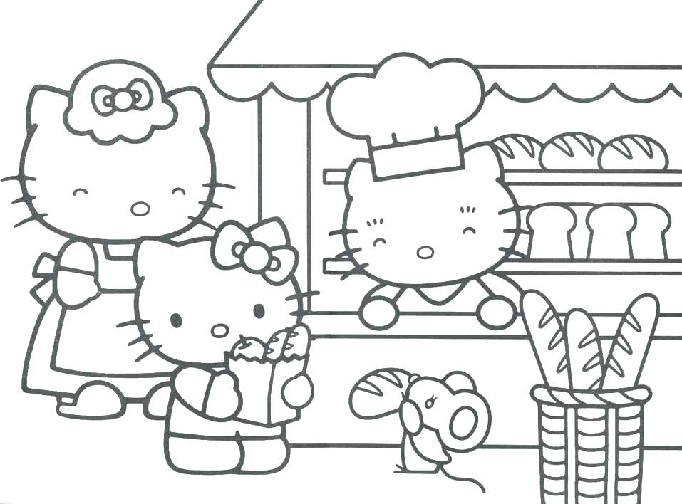 957x708 Hello Kitty Princess Coloring Page Princess Hello Kitty Coloring