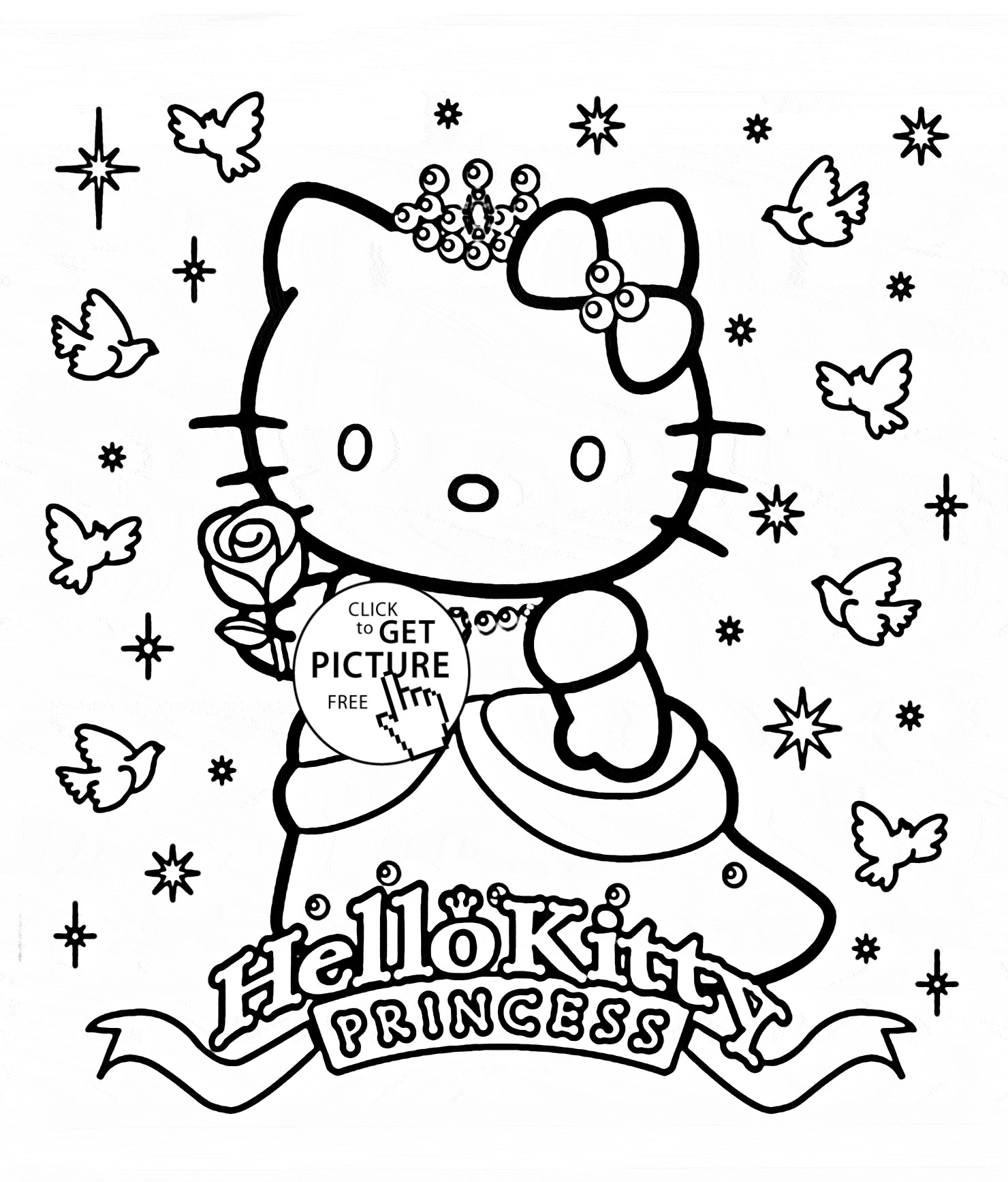 1480x1734 Unique Hello Kitty Princess Coloring Pages Collection Printable