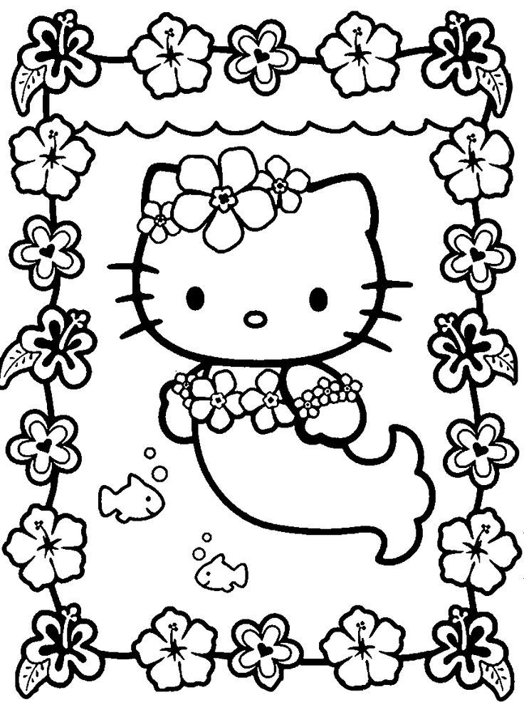 736x987 Coloring Pages To Print For Girls Free Printable Hello Kitty