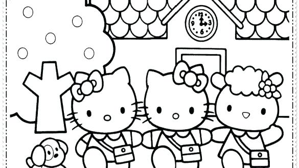 585x329 Coloring Pages For Girls Hello Kitty Coloring Pages For Girl Hello
