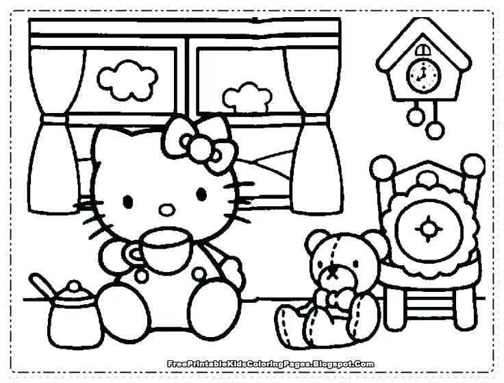 736x559 Free Cat Coloring Pages Coloring Pages For Girls Free Coloring