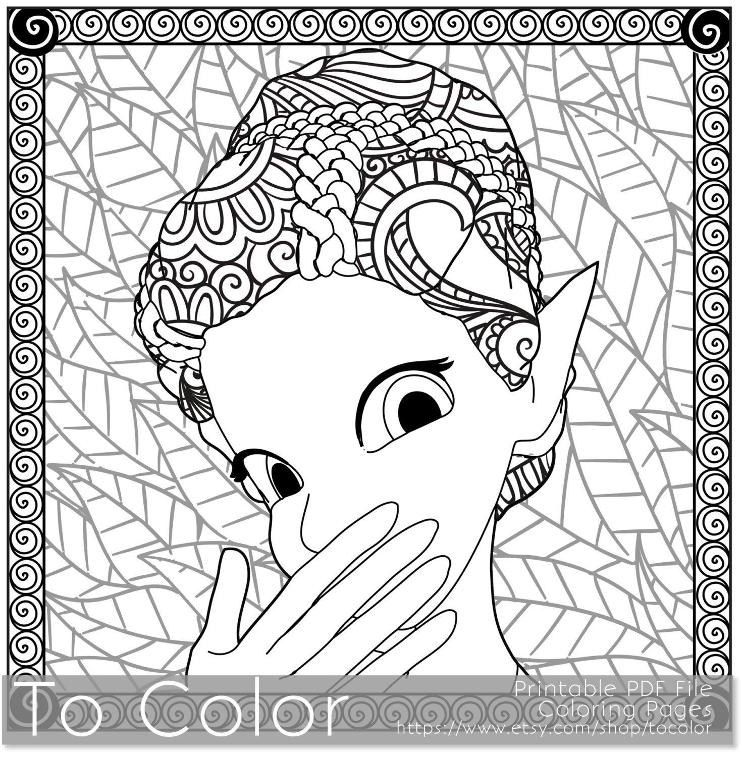 1470x1500 Coloring Pages For Adults Fantasy Pdf Instant Pleasing Girls