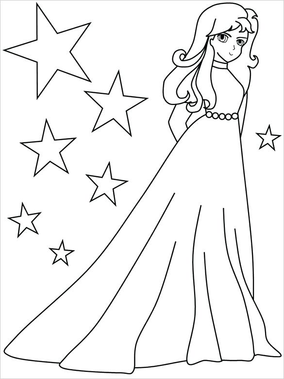 585x780 Coloring Pages For Girls Free Printable Word Pdf Png