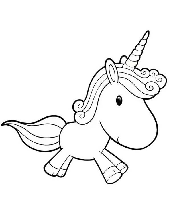 600x776 Unicorn, A Lovely Unicorn Toy Doll For Girl Coloring Page