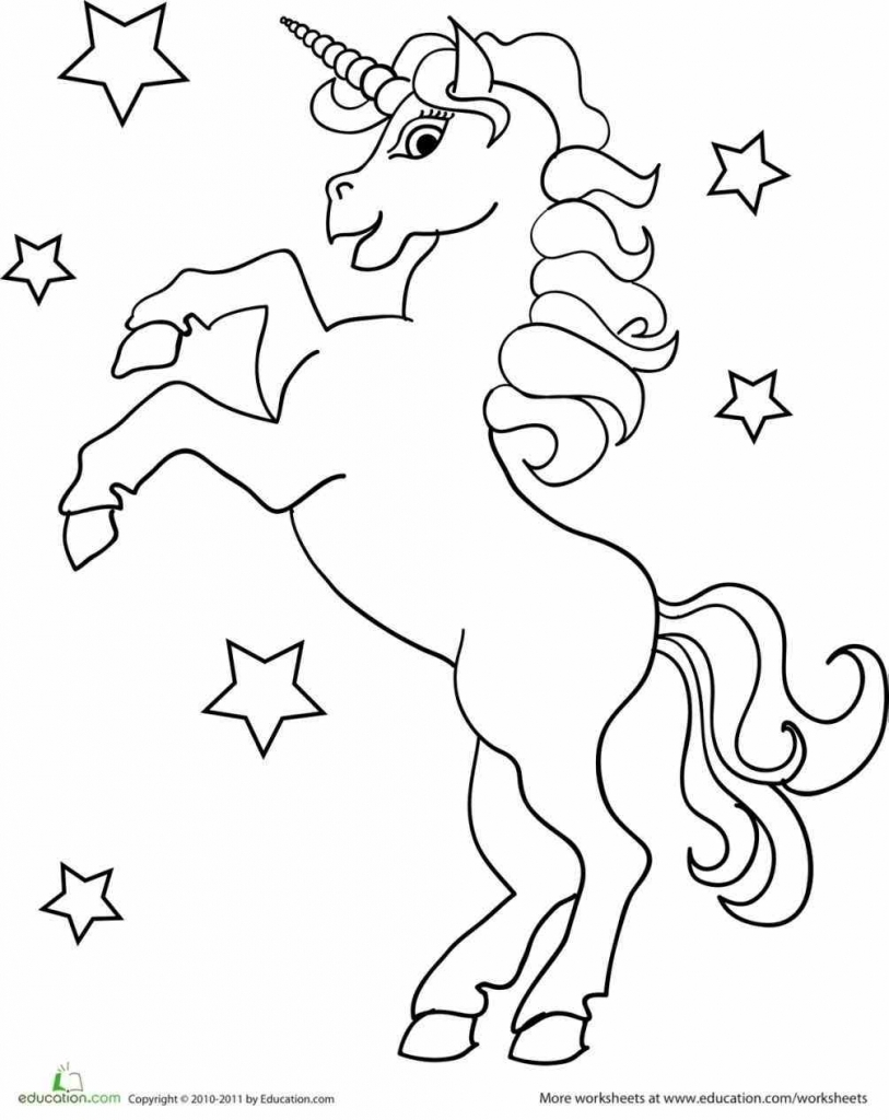 813x1024 Cute Unicorn Coloring Pages For Girls Just Colorings At Printable