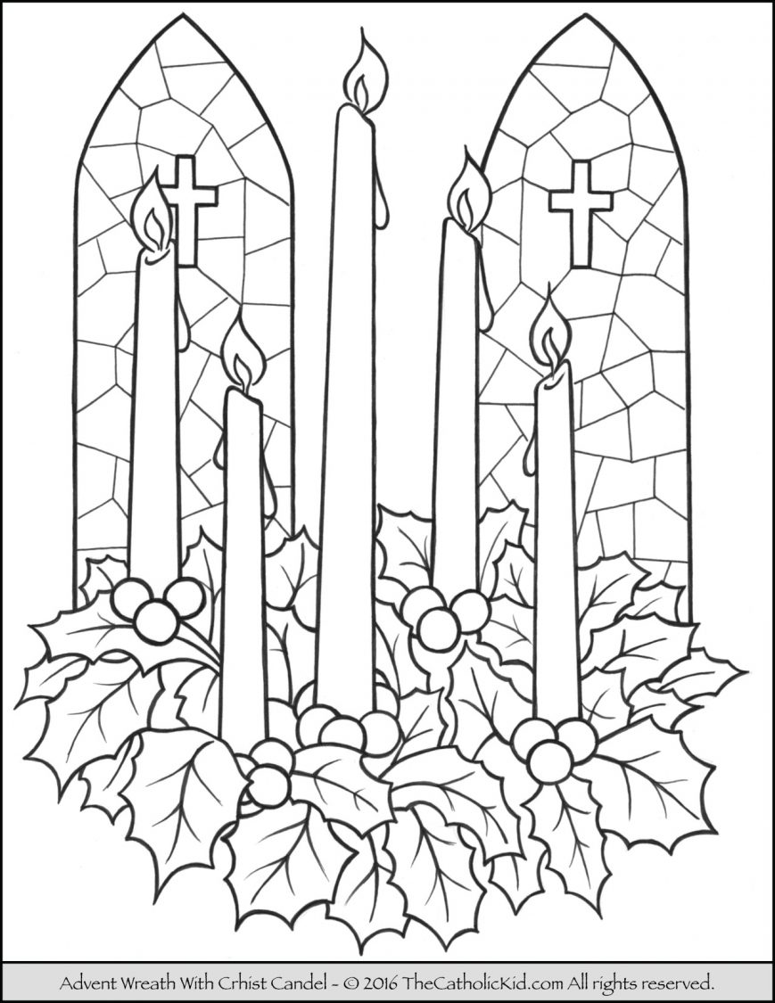 869x1125 Advent Coloring Pages Images High Def Wreath Page Free Printable