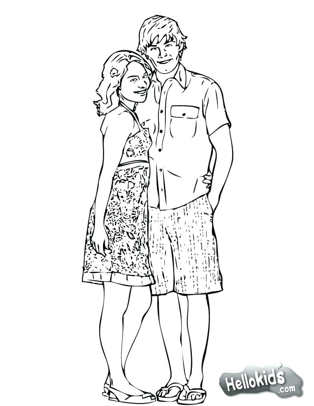 640x826 High School Musical Coloring Pages High School Musical Color Pages
