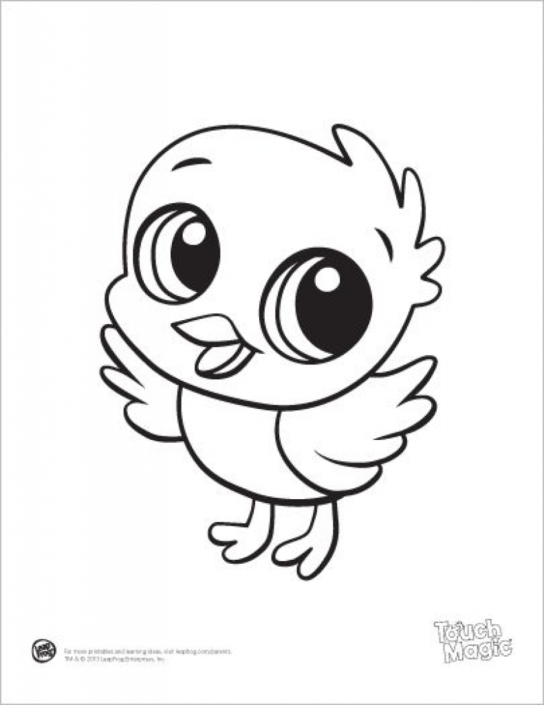 Coloring Pages For Kids Animals Cute