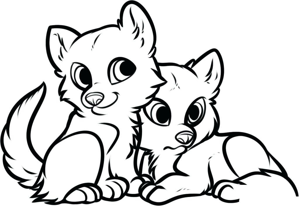 1024x717 Cute Animal Coloring Pages