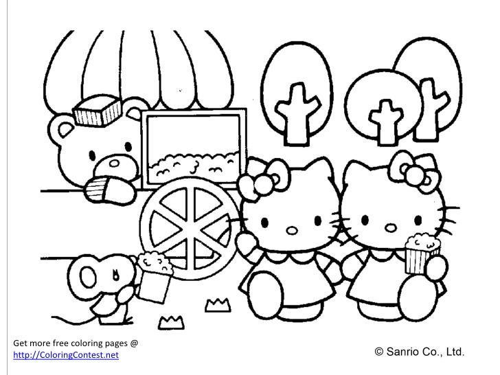 728x546 Free Download Colouring Book Free Hello Kitty Coloring Fabulous