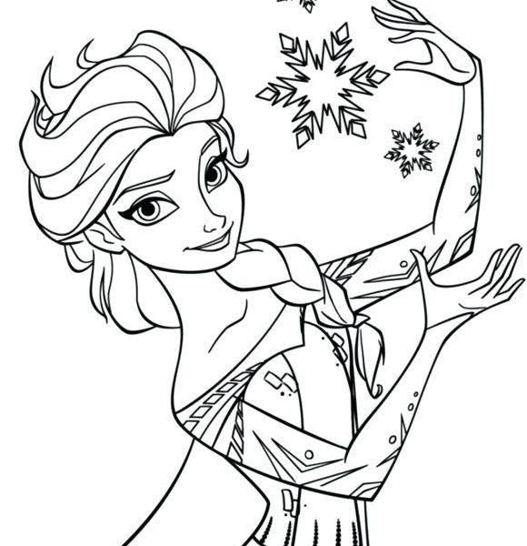 580x600 Elsa Coloring Pages Printable Elsa Coloring Pages Printable Anna