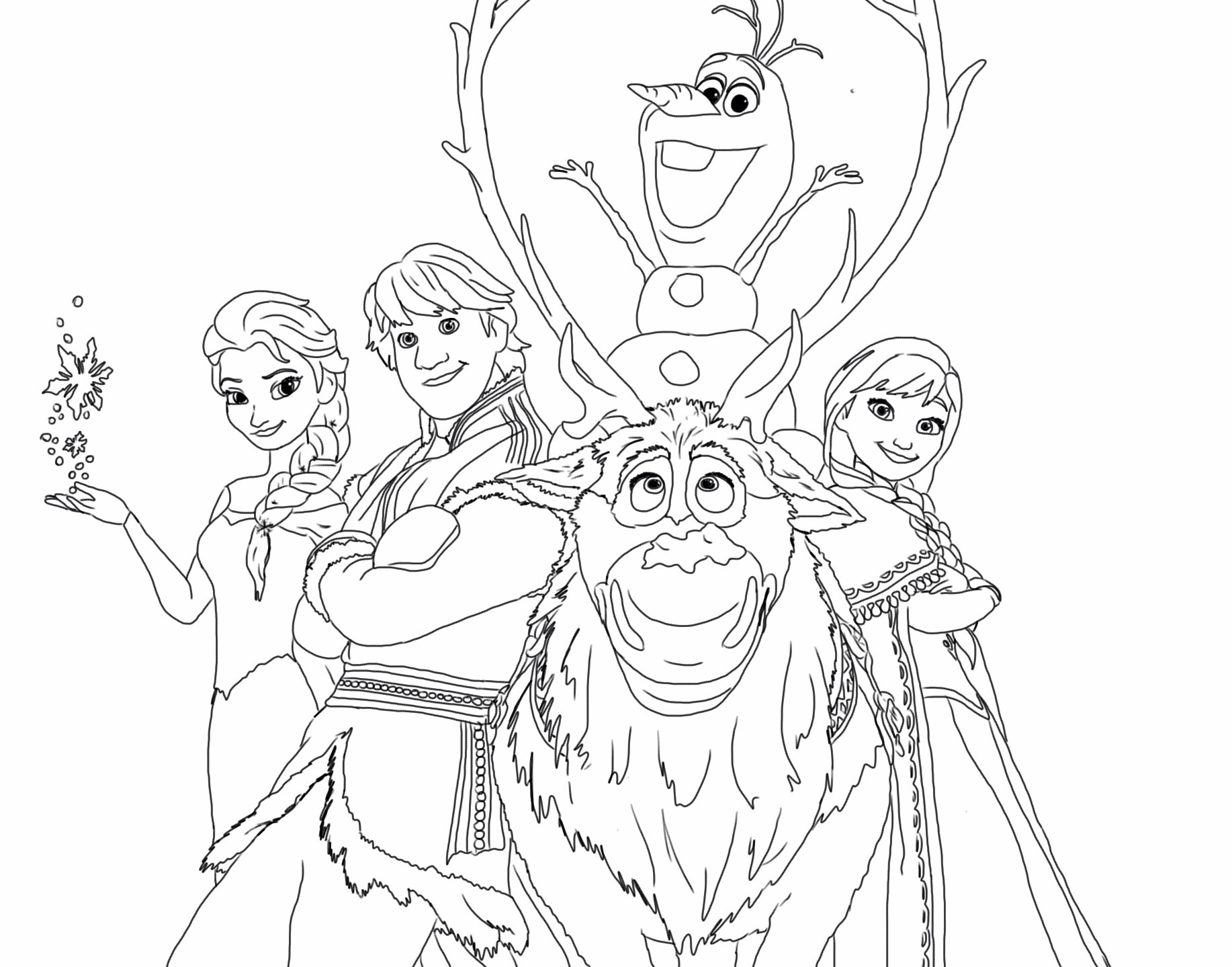 1834x1439 Frozen Happy Family Free Coloring Page Disney, Frozen, Kids
