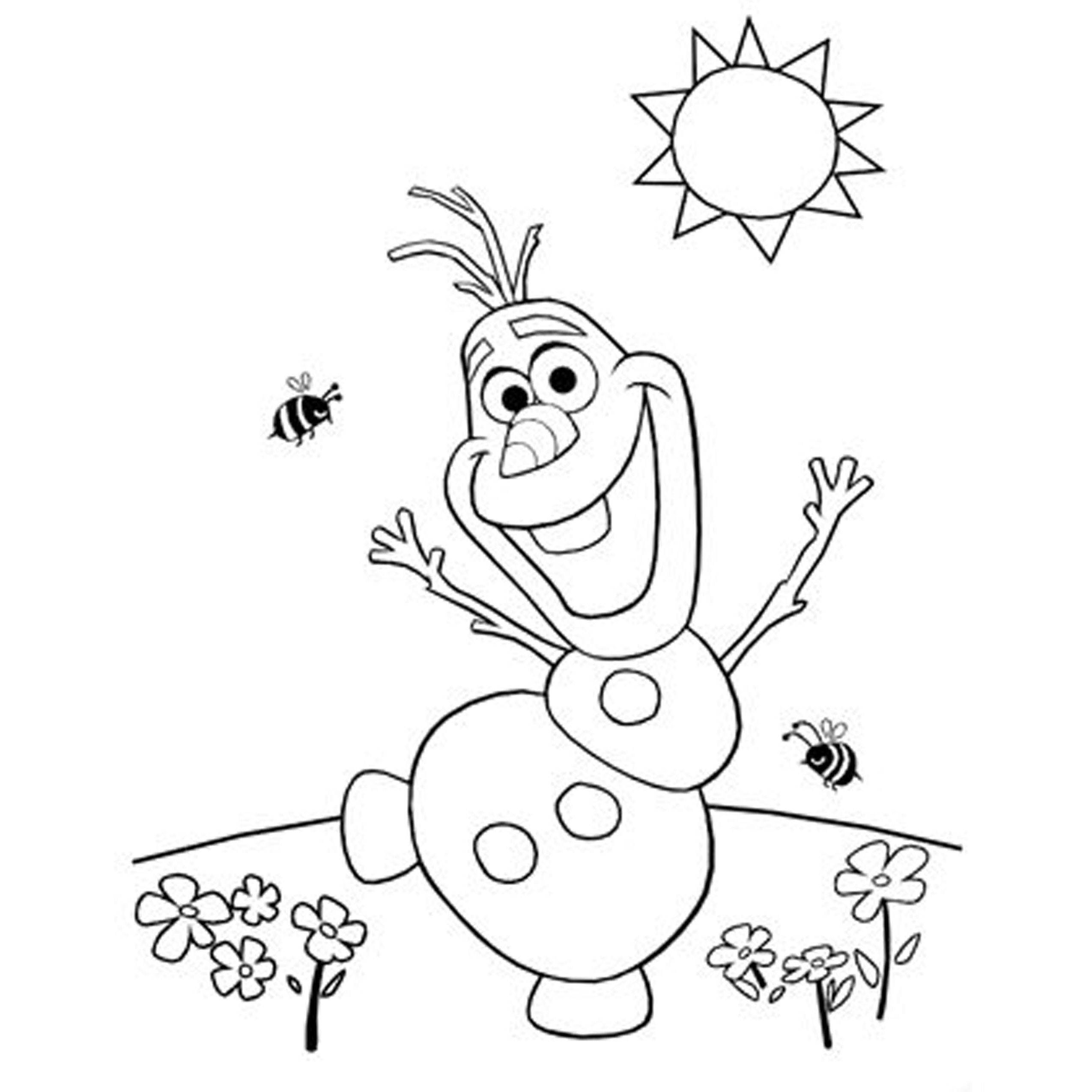 2550x2550 Olaf Is Happy Free Coloring Page Disney, Frozen, Kids Coloring Pages